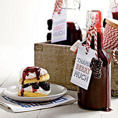 Gifts in a Jar-- #Blackberry Syrup   MyRecipes.com