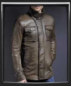 Yushan Leather Jacket for men by Soul Revolver. Made In Italy.