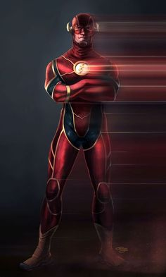 This is my concept for a cinematic version of the DC comics character The Flash. The Flash Heros Comics, Dc Comics Characters, Dc Comics Art, Marvel Dc Comics, Comic Book Heroes, Marvel Heroes, Comic Books Art, Flash Comics, Flash Barry Allen