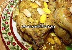 Cuisine marocaine:Coquelets farcis au Couscous/Cornish Hen stuffed with ...
