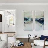 Harbor View - Transitional - Living Room - Orange County - by Three Salt Design Co. Florida Decorating, Living Room Orange, Harbor View, Transitional Living Rooms, Orange County, Salt, Gallery Wall, Design, Home Decor