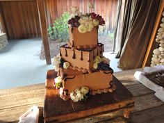 Wedding 'cake' for those who dont like cake... its actually a 9 layers of brownie and ganache!!!