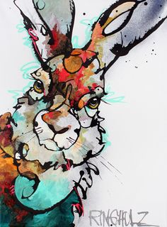 Amy Ringholz.....Passionate drawings of sensual black ink lines make up the foundation upon which Amy Ringholz adds saturated colors, texture, intrigue and emotion to her wildlife images.