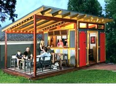 bar sheds plans pool shed with excellent design ideas backyard best pub images on garden years Backyard Bar, Backyard Sheds, Outdoor Sheds, Man Cave Backyard Ideas, Backyard Studio, Shed Hangout Ideas, Party Shed, Man Cave Shed, Pool Shed