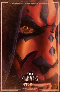Star Wars Episode I The Phantom Menace /by Nicolas Alejandro  #Starwars #art