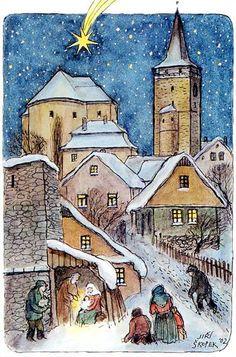 dedina v zime