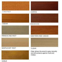 Wood Stain Colors Interior | Color Swatches U003e Penofin | DIY Home Center