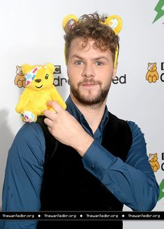 Jay McGuiness was with the cast of Strictly Dance and posed for Children in Need in Elstree Studios in Borehamwood, England