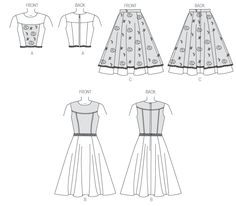 McCalls 7048 - Misses Princess seamed dress with various detail options. Joi Mahon design.