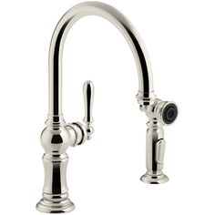 Buy the Kohler Oil Rubbed Bronze Direct. Shop for the Kohler Oil Rubbed Bronze Artifacts High-Arch Kitchen Faucet with ProMotion and MasterClean Technologies - Includes Side Spray and save. Bar Faucets, Kitchen Sink Faucets, Kitchen Handles, Kitchen And Bath, Bathroom Faucets, Kitchen Hardware, Kitchen Modern, Kitchen Fixtures, Bathrooms