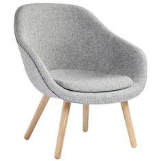 Hay About a Lounge Chair nojatuoli istuintyynyllä, AAL82, matala