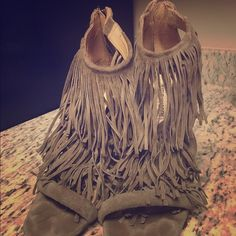 Steve Madden Fringe Heels Steve Madden Fringe Heel size 9 in Taupe/Tan.  Worn twice these are super cute!! You will get a ton of compliments with these! Steve Madden Shoes Heels