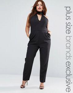 3aea4d68caad Lavish Alice Plus Halter Neck Tailored Jumpsuit  gt  gt  gt  You can find