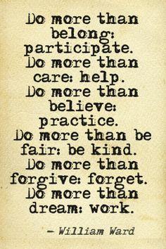Do more.