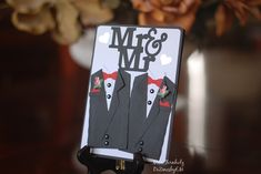 Items similar to Mr and Mr wedding Card. Perfect for the male same sex wedding card. on Etsy Wedding Cards, Wedding Gifts, One Smart Cookie, Suit Card, Jewish Gifts, Greeting Cards Handmade, Teacher Appreciation, Grooms, Teacher Gifts