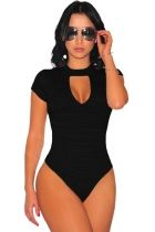 Sexy Women Skinny Bodysuit Short Sleeve Marled Peep Hole Choker Jumpsuit Turtleneck Open Back Rompers Summer Shorts Playsuit Choker Bodysuit, Bodysuit Tops, Womens Bodysuit, Black Bodysuit, Sequin Bodysuit, Bikini Fashion, Skirt Fashion, Body Lingerie, Mode Du Bikini