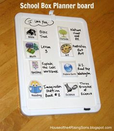 The Homeschool Classroom: Scheduling Your Days with a School Box Planner - melissamop@gmail.com - Gmail
