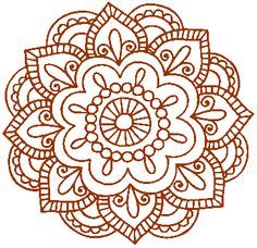 simple mandala henna style - Google Search