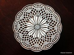 Pottery Stamps, Indian Wood Stamp, Textile Stamp, Wood Blocks, Tjaps, Printing Stamp- Round Lace Doily