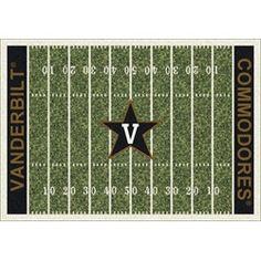 Vanderbilt Commodores Football Field Rug