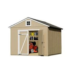 Heartland (Common: x Interior Dimensions: x Statesman Gable Engineered Storage Shed (Installation Not Included) at Lowe's. The Heartland Statesman x wood storage shed is packed with value. Engineered Wood Siding, Types Of Siding, Plastic Sheds, Wood Storage Sheds, Metal Shed, Prehung Doors, Floor Framing, Tool Sheds, Lowes Home Improvements