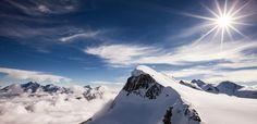 Landschap in de Alpen met Gletsjers, Zwitserland van Frank Peters