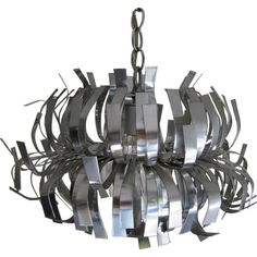 Whimsical Mod Stainless Steel Hanging Lamp or Chandelier 1