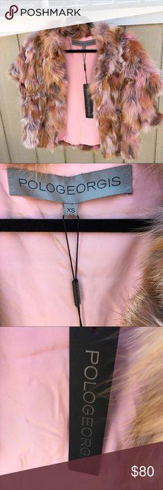 POLOGEORGIS FUR VEST 100% fox fur, super soft Pologeorgis Jackets & Coats Vests