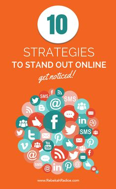 Get Noticed! 10 Strategies to Help You Stand Out Online Inbound Marketing, Social Media Marketing Business, Content Marketing, Internet Marketing, Online Marketing, Digital Marketing, Marketing Plan, Web Social, Social Media Site