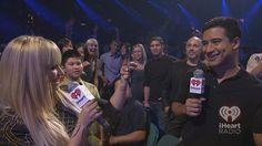 Demi Lovato and Mario Lopez at the iHeartRadio Music Festival 2012. #iHeartRadio #DemiLovato #MarioLopez