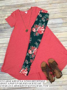 LuLaRoe Outfit Carly and Rose Leggings. LuLaRoe Style. Flat Lay Photo. Spring Style.