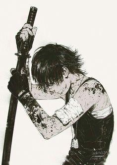 Anime boy, torture, blood, rope, crying, sad; Anime Guys ...