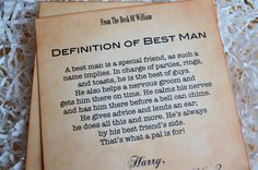 Will You Be My Best Man Invitation Personalized by ifiwerecards, $5.00