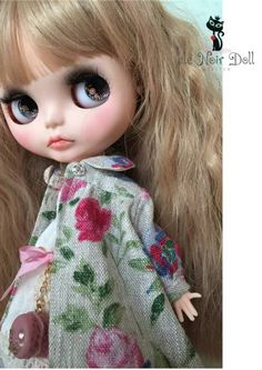 cle Noir Doll**カスタムブライス** favorite floral coat_画像1