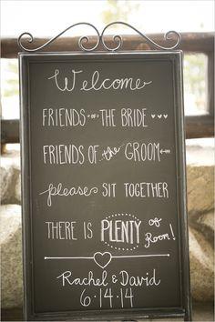 destination wedding | welcome chalkboard sign | lake wedding ideas | #weddingchicks