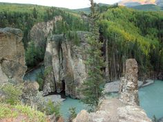 Grande Cache, Alberta, Canada I rock climbed up Hell's Gate, did back country hiking trips and horseback overnight trips. Helicopter trips through the cliffs and along the river. Scary, fun and beautiful!