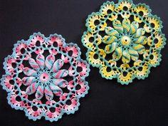 Pretty Pinwheel Doily Pattern | AllFreeCrochet.com