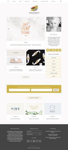 Bird & Design Creative Studio and Blog running on Station Seven's Kindred WordPress theme.