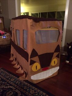 Totoro birthday cat bus Made from a store bought popup kids school bus covered in felt
