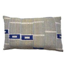 Vintage African Yoruba Textile Lumbar Pillow