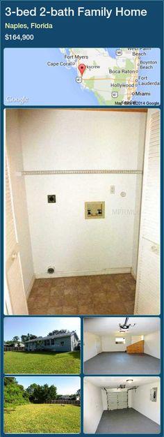 3-bed 2-bath Family Home in Naples, Florida ►$164,900 #PropertyForSaleFlorida http://florida-magic.com/properties/40014-family-home-for-sale-in-naples-florida-with-3-bedroom-2-bathroom