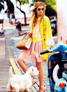Model: Anna Iaryn   Photographer: David Gubert - for Self Magazine, April 2012