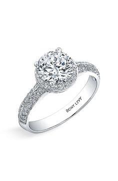 Bony Levy 'Bridal' Pave Diamond Semi Mount Ring (Nordstrom Exclusive)