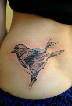 Looks like a love bird      #tattoos #inked #ink