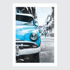 Plakat Kuba – vintage car-1