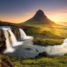 Kirkjufell mountain is a marvelous spot in Iceland. If you have seen the movie 'The Secret Life of Walter Mitty' you may recognize this mountain. It really is a picturesque, peaceful and inspiring place.