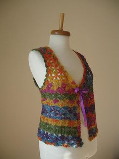 Mohair Multicolor Vest By Crochetlab Perfect for door crochetlab Crochet Blouse, Crochet Top, Vest, Tank Tops, Womens Fashion, Batik, Cardigan, Outfits, Seasons
