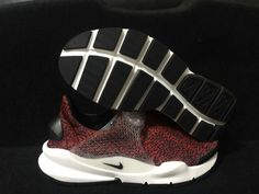 newest 33628 22525 Shop Nike Sock Dart QS 942198 600 Men Casual Shoes Safari Pack Burgundy  Black Noir White blanc Red Youth Big Boys Shoes