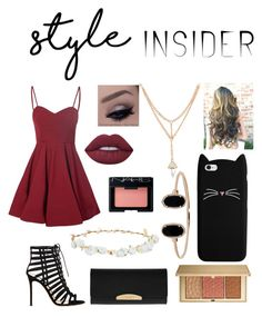 Untitled #5 by absanjie64 on Polyvore featuring polyvore fashion style Glamorous Gianvito Rossi Henri Bendel LULUS Robert Rose Estée Lauder NARS Cosmetics Lime Crime clothing contestentry laceupsandals PVStyleInsiderContest