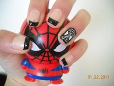 Spiderman 'Venom' Nails